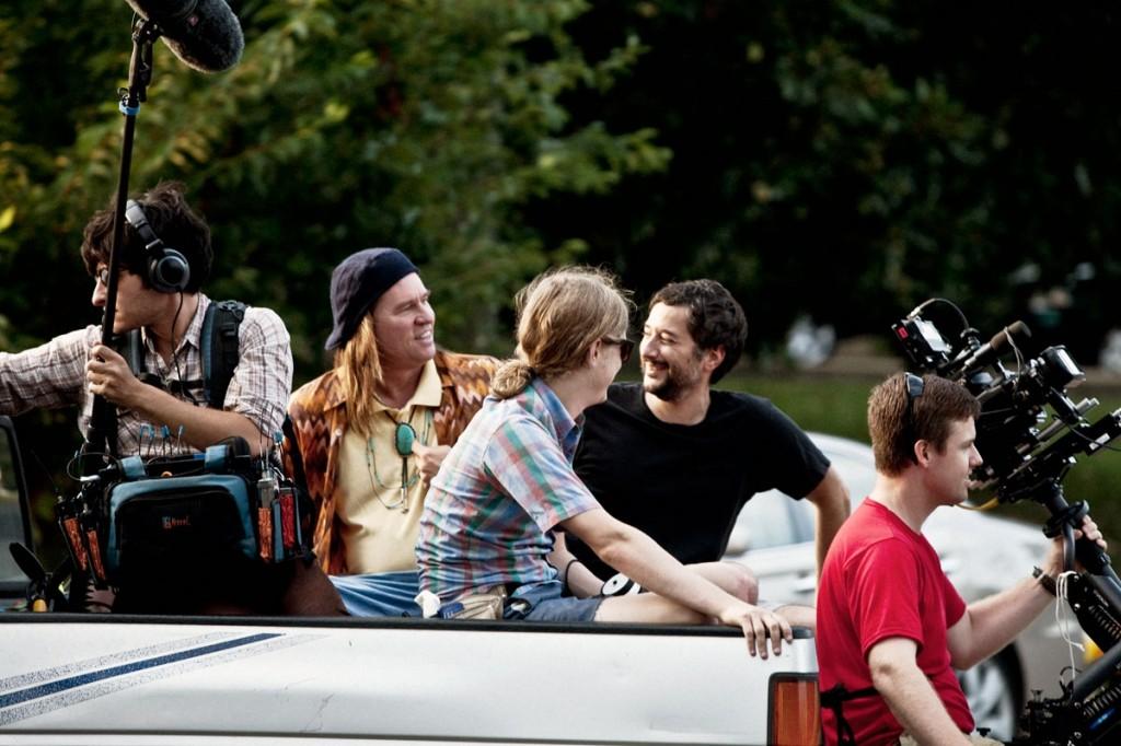 Val-Kilmer-and-Harmony-Korine-talk-on-set-of-Grolsch-Film-Works-shoot